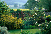 THE VIEW ACROSS THE CAR Park TO THE SURROUNDING COUNTRYSIDE at ARROW Cottage, Herefordshire