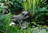 CAROLYN HUBBLE'S SHROPSHIRE Garden: MARBLE FROG by TSAO CHAU YAU