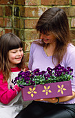 Nancy GIVES Clare A Purple MOTHERS DAY Box PAINTED with Gold FLOWERS