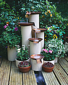 Water Feature Made From RECYCLED Hot Water CYLINDERS AND Gas MAINS