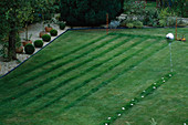 CHILDRENS SUMMER Party: RUNNING TRACK CUT OUT of LAWN