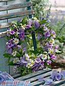 Violett - weißer - Sommerkranz