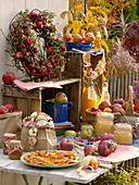 Frisch geerntete Äpfel im Herbst verarbeiten