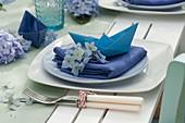 Maritime Hortensien - Tischdeko