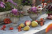 Terrassen-Tisch herbstlich dekoriert