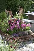Terrassenbeet mit Einfassung aus Klinker