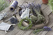 Lavendel trocknen und Lavendel - Rosmarin - Kranz