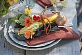 Herbstliche Gemüse - Tischdeko