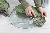Kohlblaetter-Schale aus Schnell-Estrich selbermachen
