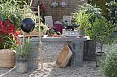 Outdoor - Küche asiatisch kochen mit Wok