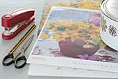 Hyazinthen-Hütchen aus Kalenderblaettern selbermachen