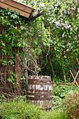 Verwunschene Gartenecke mit Gartenhaus