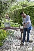 Dekoelement für den Garten selbermachen