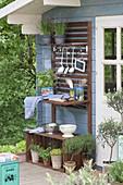Outdoor-Küche am Gartenhaus