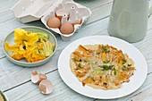 Frittata mit Zucchiniblüten