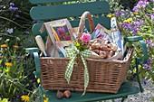 Geschenkkorb für einen Gartenfreund : Tulipa (Tulpen-Zwiebeln)