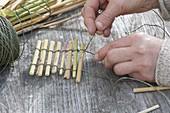 Dekorative Verkleidung aus Gräsern selbstgemacht