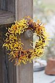 Kleiner Kranz aus gemischten Blüten von Hamamelis 'Arnold Promise'
