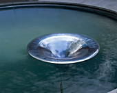 LARGE Pool with Metal 'SINK'. CIRC Garden, CHELSEA 2001, Designer: ANDY STURGEON