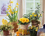 Gelbes Oster - Arrangement im Zimmer