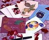 Blüten u. Blätter pressen / Grußkarten selbstgemacht: Mit getrockneten,gepressten