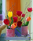 Angemalte Blechdosen als Vase: 3/3