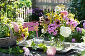 Hydrangea (Hortensie), Phlox (Flammenblumen), Rudbeckia purpurea