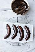 Vegane Schoko-Bananen