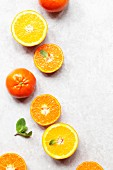 Oranges, Clementines and mint