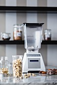 A blender to chop up ingredients for raw baking