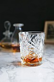 Cognac in a vintage glass