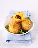 Arancini di Riso (deep fried rice balls, Italy)