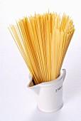 Spaghetti in a measuring cup