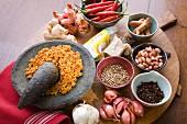 Zutaten für indonesische Gewürzpaste