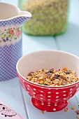 Oatmeal with dried fruits for muesli