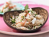 Basmati rice with crab and chives