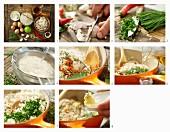 Basmatireis mit Krebsfleisch und Schnittlauch zubereiten