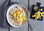 Quick and easy Bircher muesli with mango