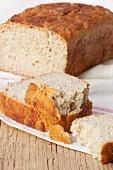 Quinoa bread, sliced