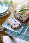 French country terrine with thyme