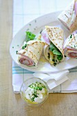 Asparagus and ham wraps