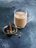 Chai (a spiced milk tea from India)