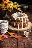 Pumpkin Chai Bundt Cake with Chai Glaze