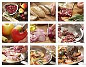 Italienische Hähnchenleber-Crostini mit gegrillten Äpfeln und Salbei zubereiten