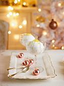 Champagnersorbet zu Weihnachten