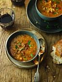 Chorizo Chestnut Soup