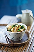 Stir-fried Tofu with Prawn Balls and Hokkien Noodles