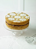 Victoria sponge cake with jam filling
