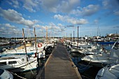 The harbour of Colonia de Sant Jordi in Mallorca, Spain