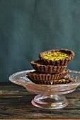 Tartlets with passionfruit cream